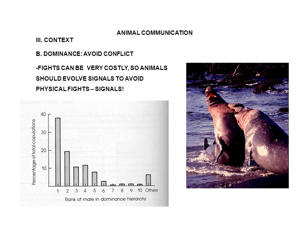 ANIMAL COMMUNICATION III. CONTEXT B.
