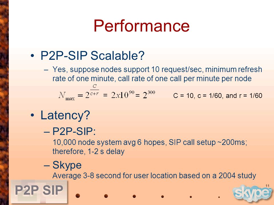 11 Performance P2P-SIP Scalable.