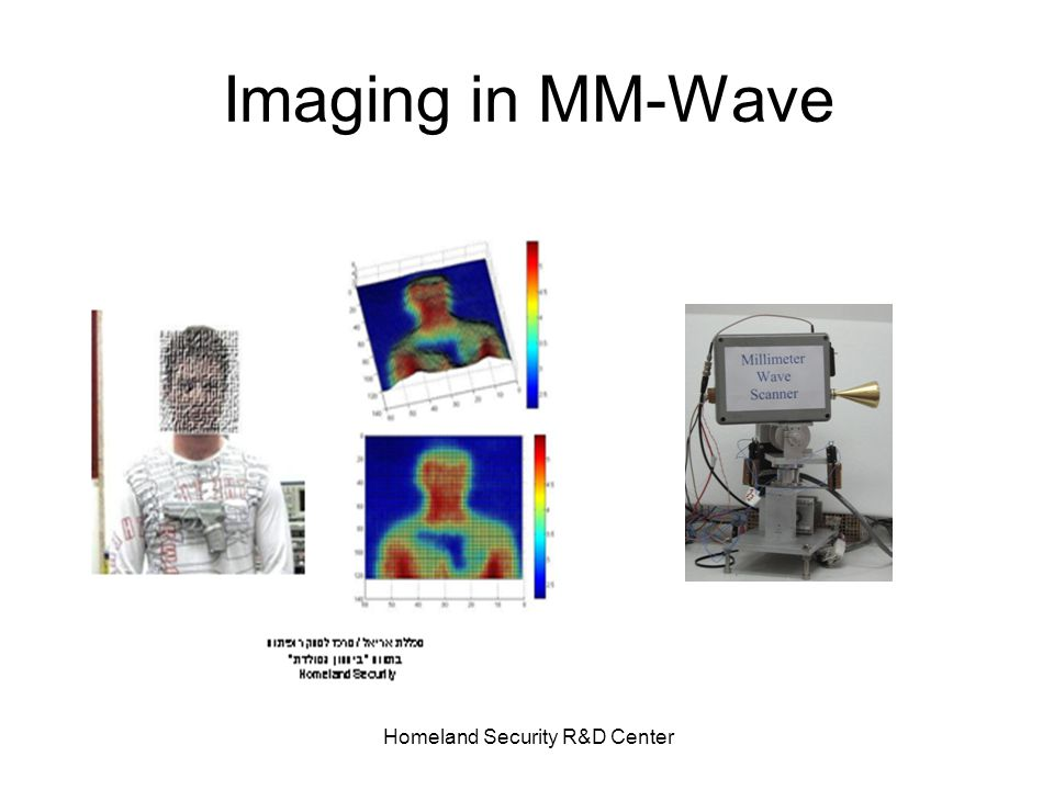 Homeland Security R&D Center Imaging in MM-Wave
