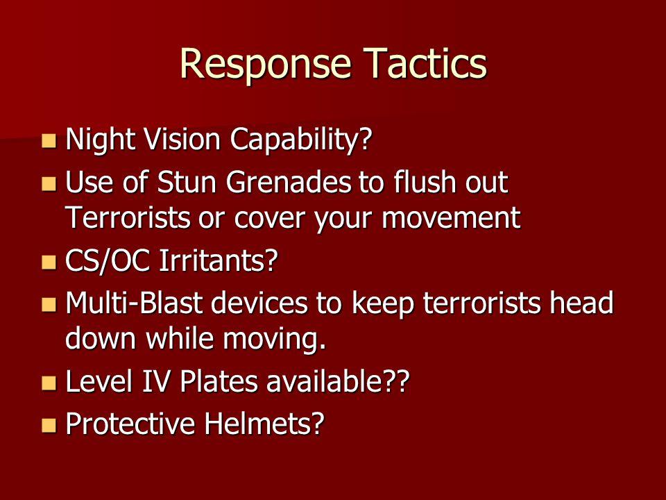 Response Tactics Night Vision Capability. Night Vision Capability.