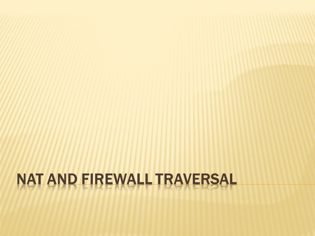  This simplified description depends on the specific properties of the firewalls used.