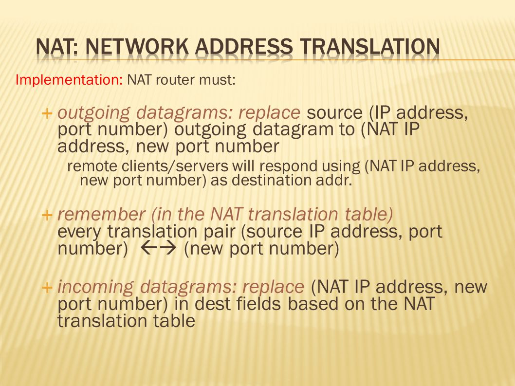  Network administrators who do not appreciate this sort of hole in their firewall and are worried about abuse, are left with only one option (they have to block outgoing UDP traffic, or limit it to essential individual cases)  UDP is not required for normal internet communication anyway (the web, e-mail and similar all use TCP, but not DNS)  Streaming protocols (voIP, etc.) may encounter problems, as they often use UDP because of the reduced overhead  TCP hole punching is also possible