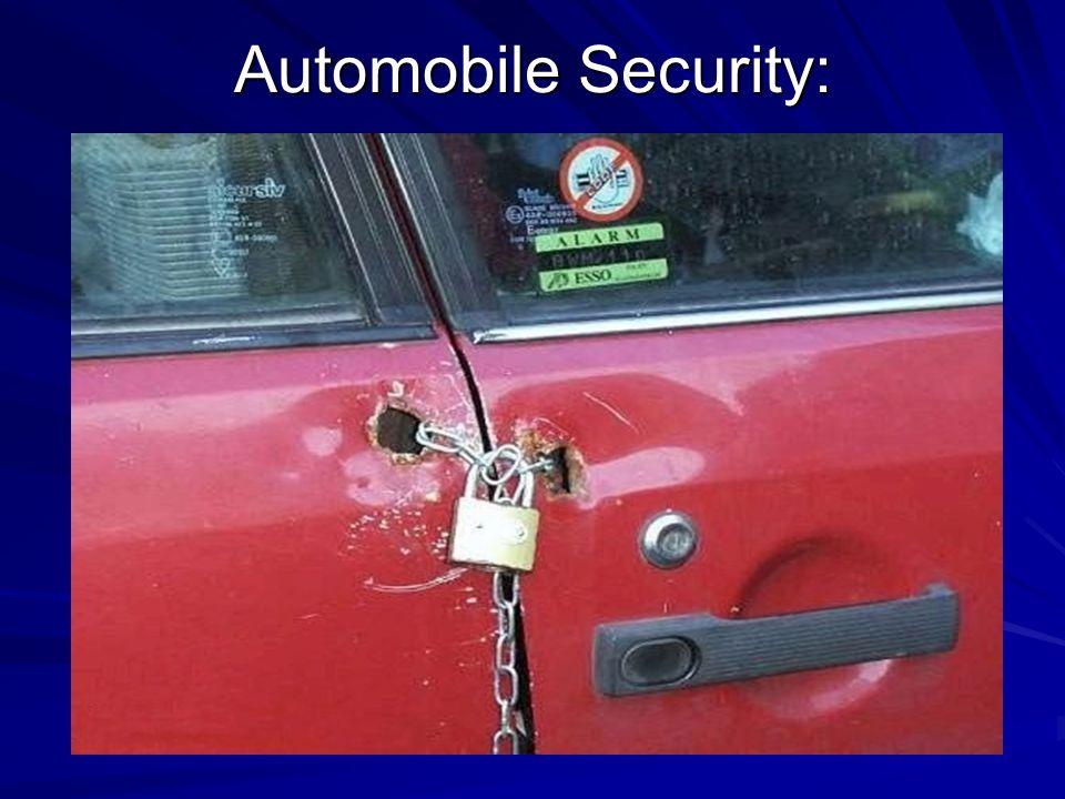 Automobile Security: