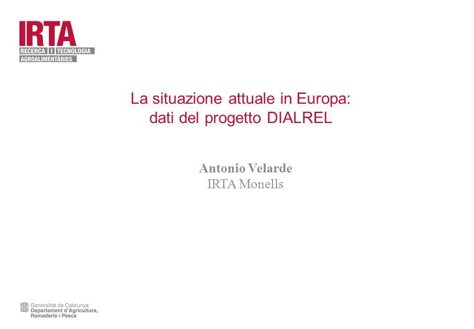 La situazione attuale in Europa: dati del progetto DIALREL Antonio Velarde IRTA Monells