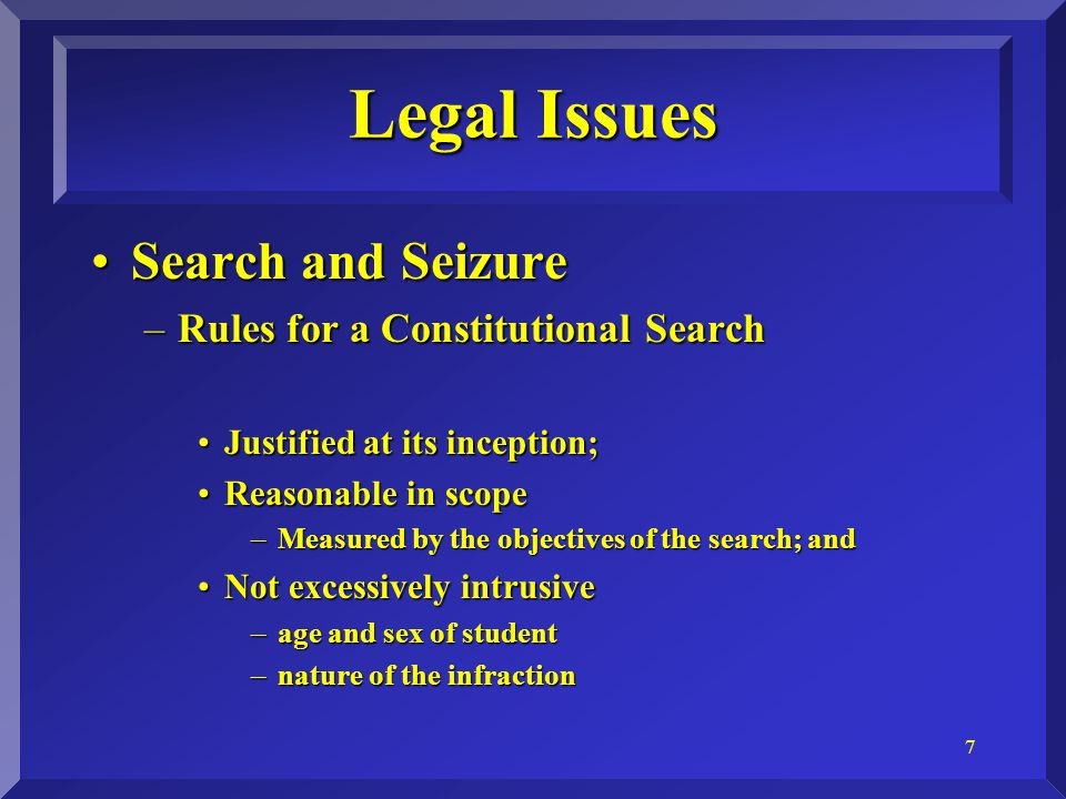 8 What is a search?What is a search.–Reasonable Expectation of Privacy is the controlling factor.