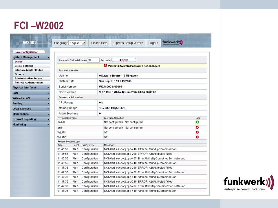 FCI –W2002