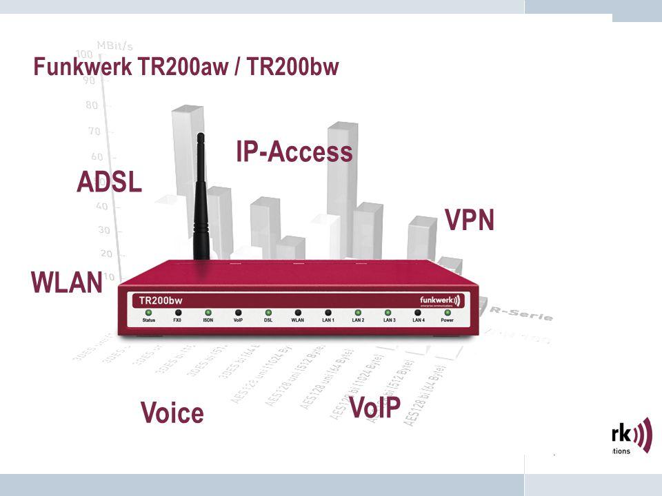 Funkwerk TR200aw / TR200bw ADSL WLAN VPN VoIP IP-Access Voice