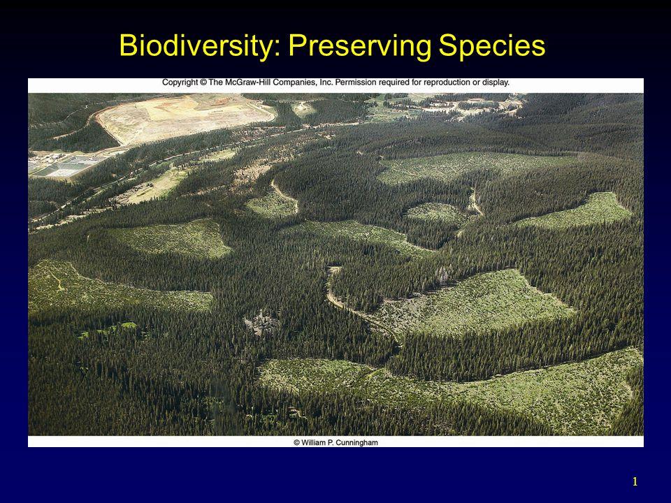 1 Biodiversity: Preserving Species