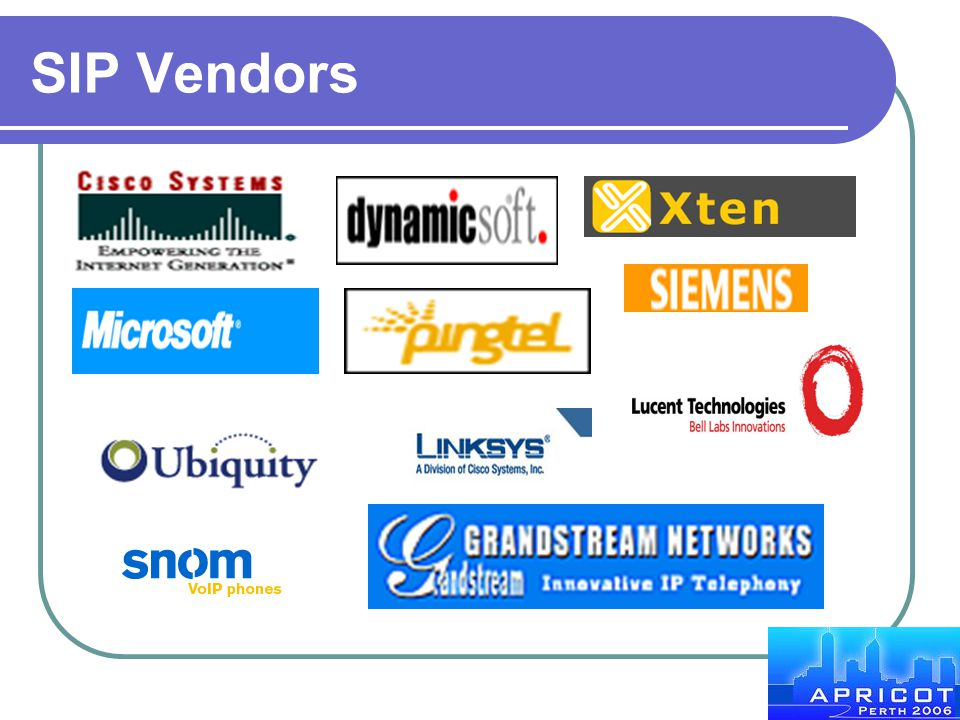 SIP Vendors