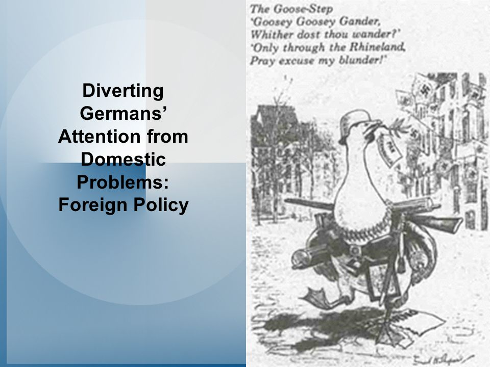 Diverting Germans' Attention from Domestic Problems: Foreign Policy