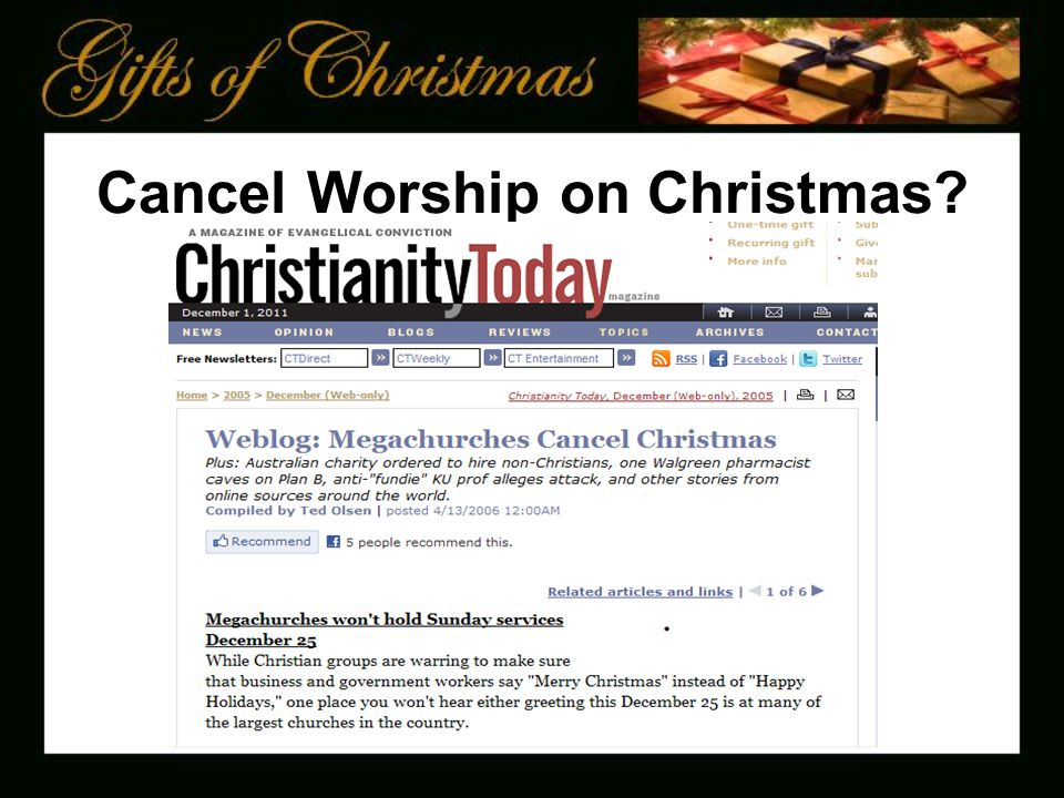 Cancel Worship on Christmas