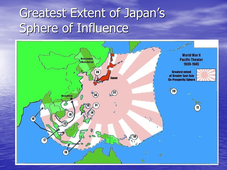 Greatest Extent of Japan's Sphere of Influence