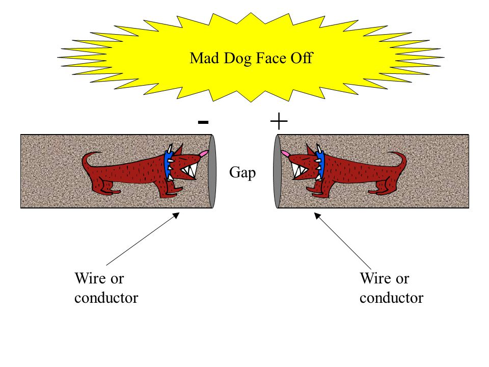 Wire or conductor - + Gap Mad Dog Face Off