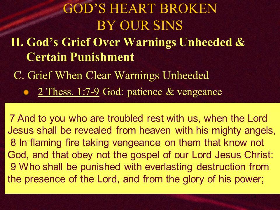 19 GOD'S HEART BROKEN BY OUR SINS III.