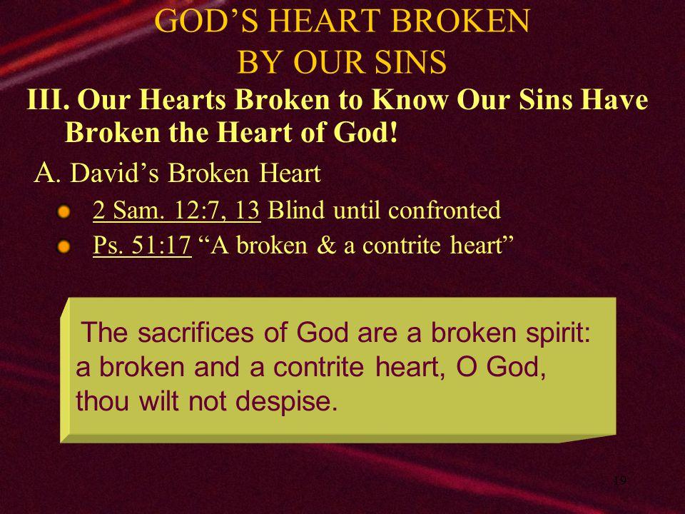 20 GOD'S HEART BROKEN BY OUR SINS III.