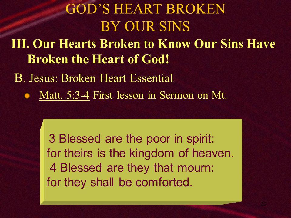 21 GOD'S HEART BROKEN BY OUR SINS III.