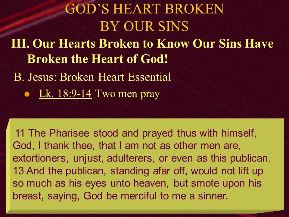 23 GOD'S HEART BROKEN BY OUR SINS III.
