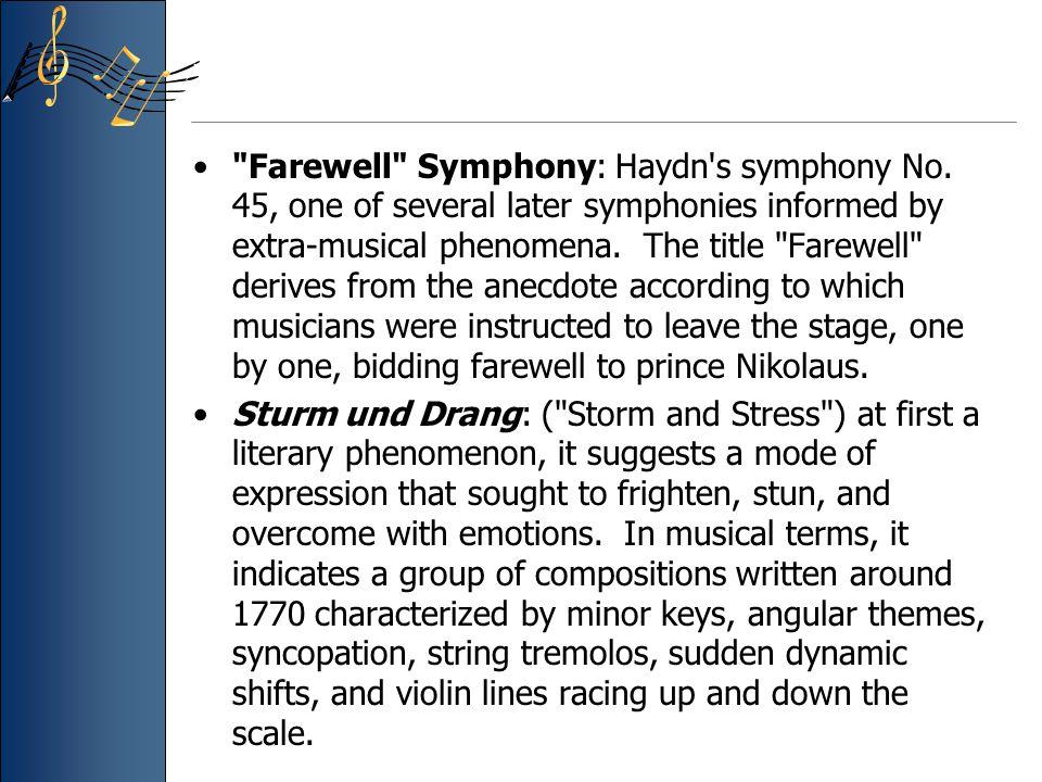 Farewell Symphony: Haydn s symphony No.