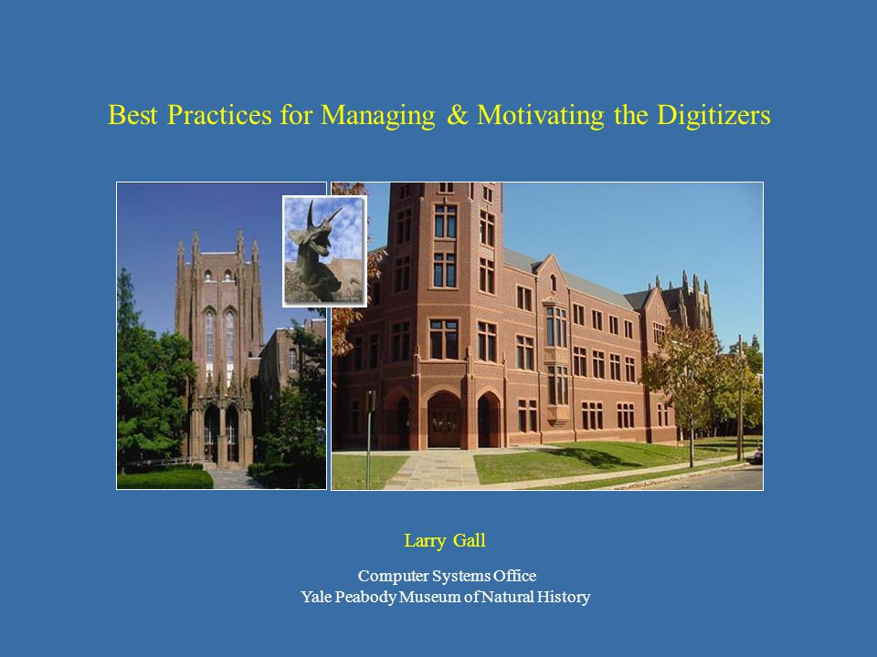 Best Practices for Managing & Motivating the Digitizers Different situations call for different solutions