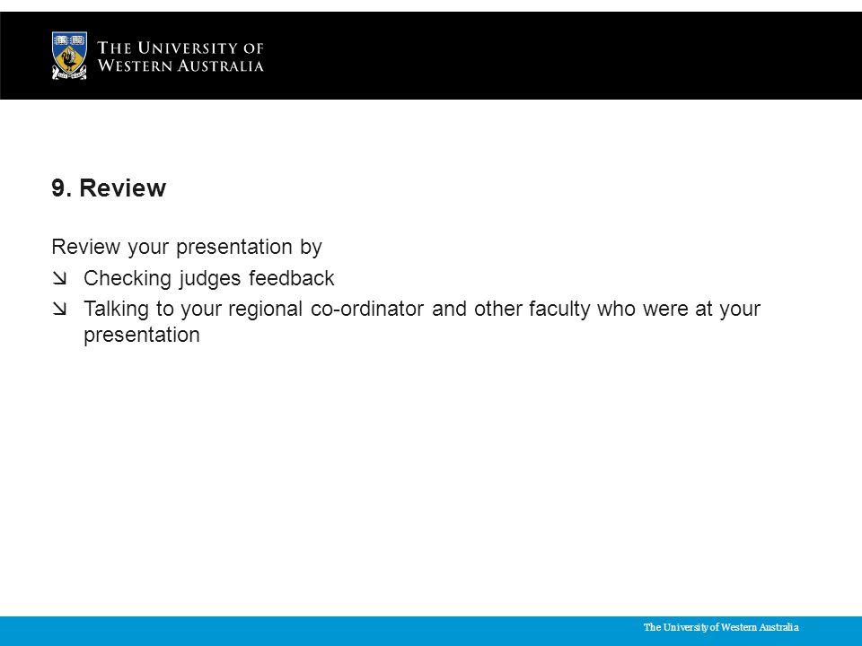 The University of Western Australia 9.