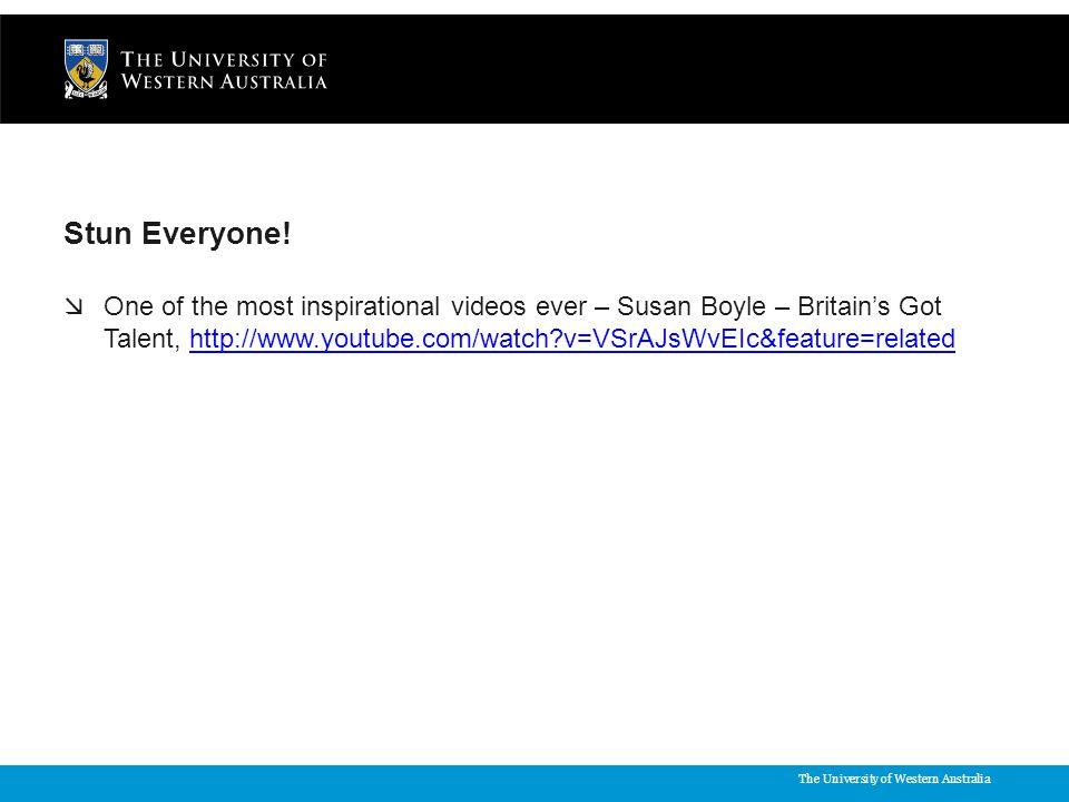 The University of Western Australia Stun Everyone.