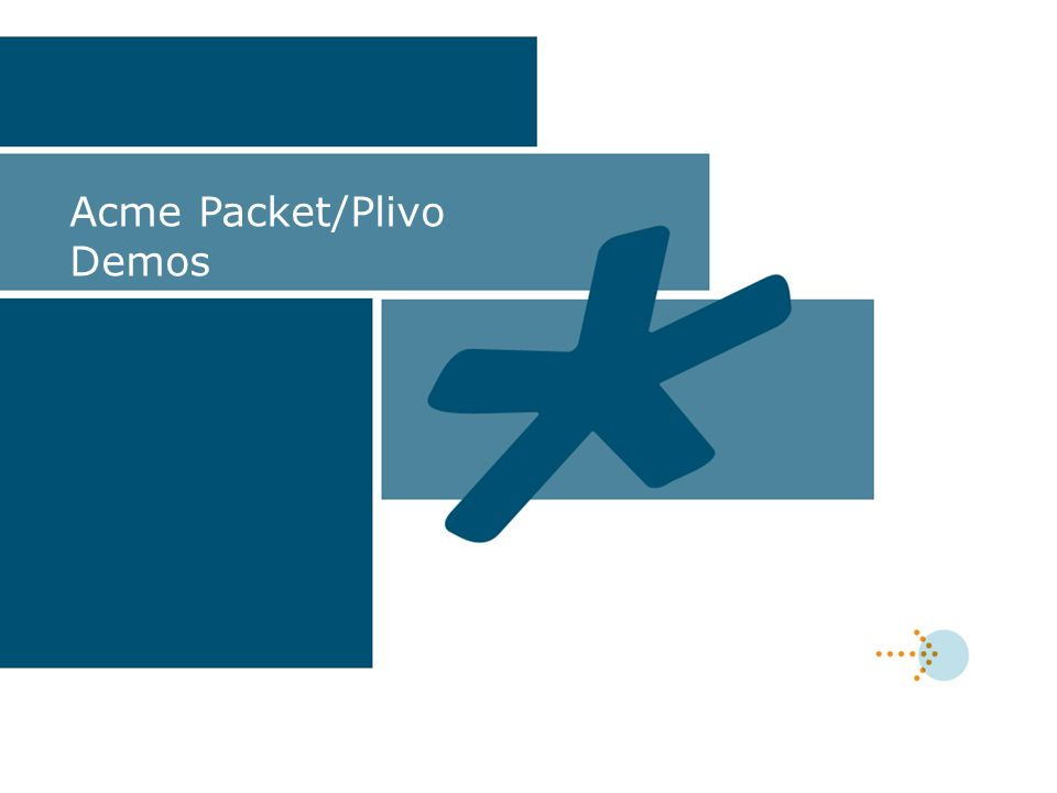 Acme Packet/Plivo Demos