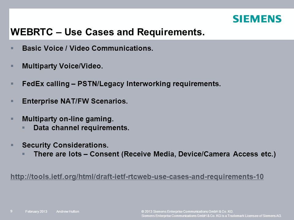 Andrew Hutton© 2013 Siemens Enterprise Communications GmbH & Co.
