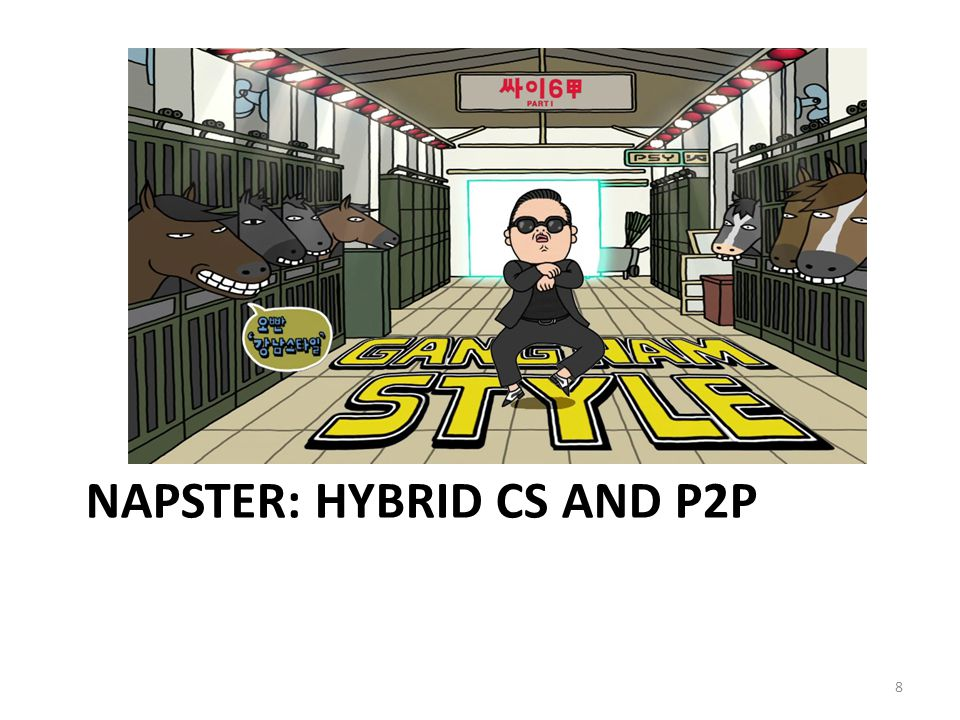 NAPSTER: HYBRID CS AND P2P 8