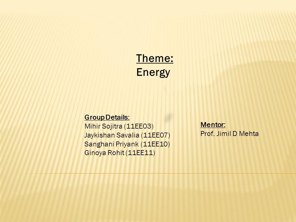 Group Details: Mihir Sojitra (11EE03) Jaykishan Savalia (11EE07) Sanghani Priyank (11EE10) Ginoya Rohit (11EE11) Mentor: Prof.