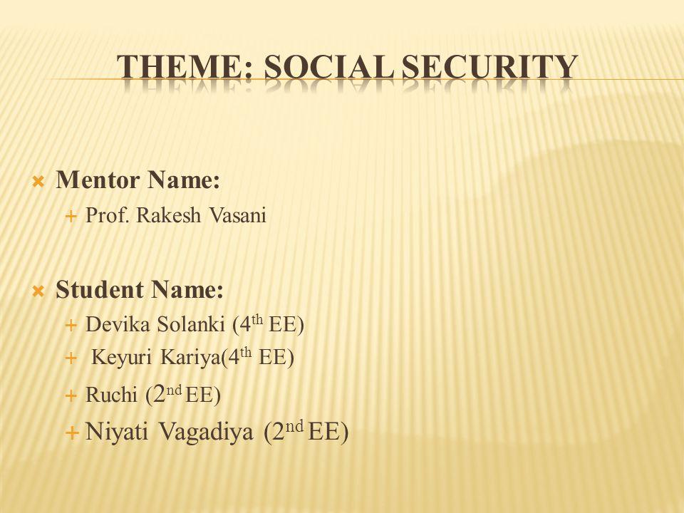 Mentor Name:  Prof.