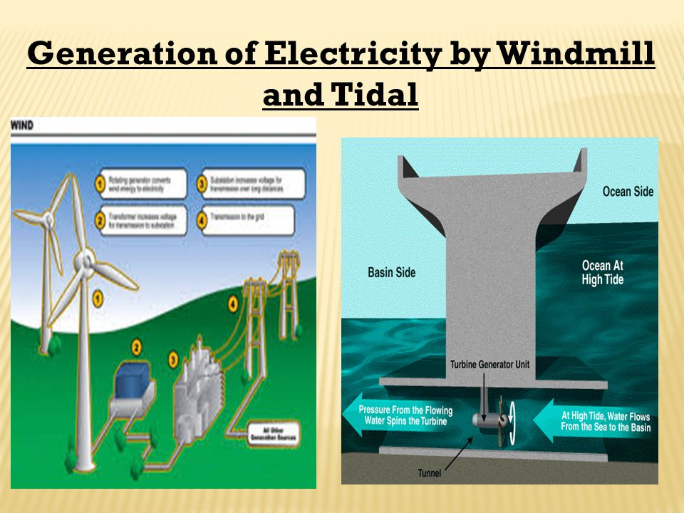 Generation of Electricity by Windmill and Tidal