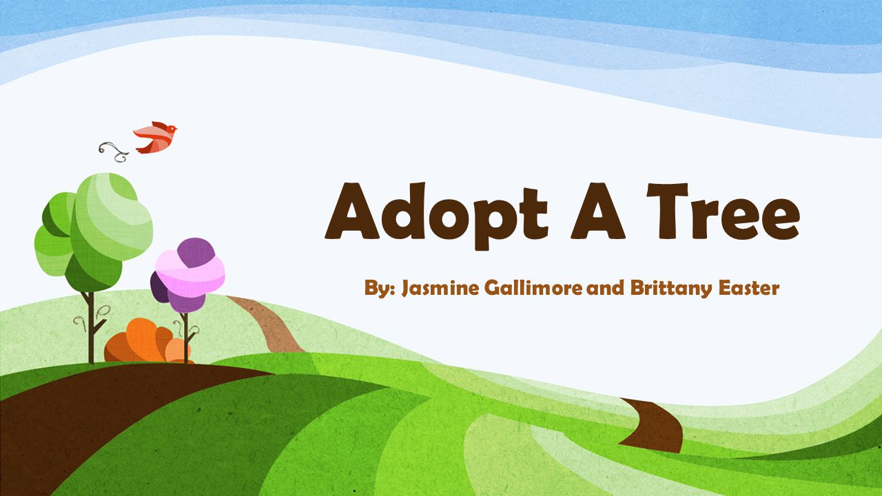 Adopt A Tree By: Jasmine Gallimore and Brittany Easter