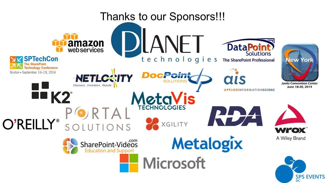 Thanks to our Sponsors!!!