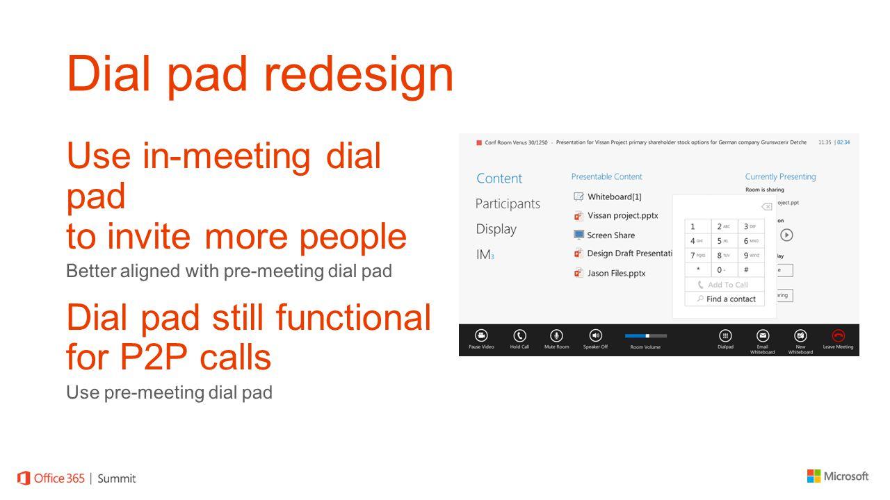 Dial pad redesign