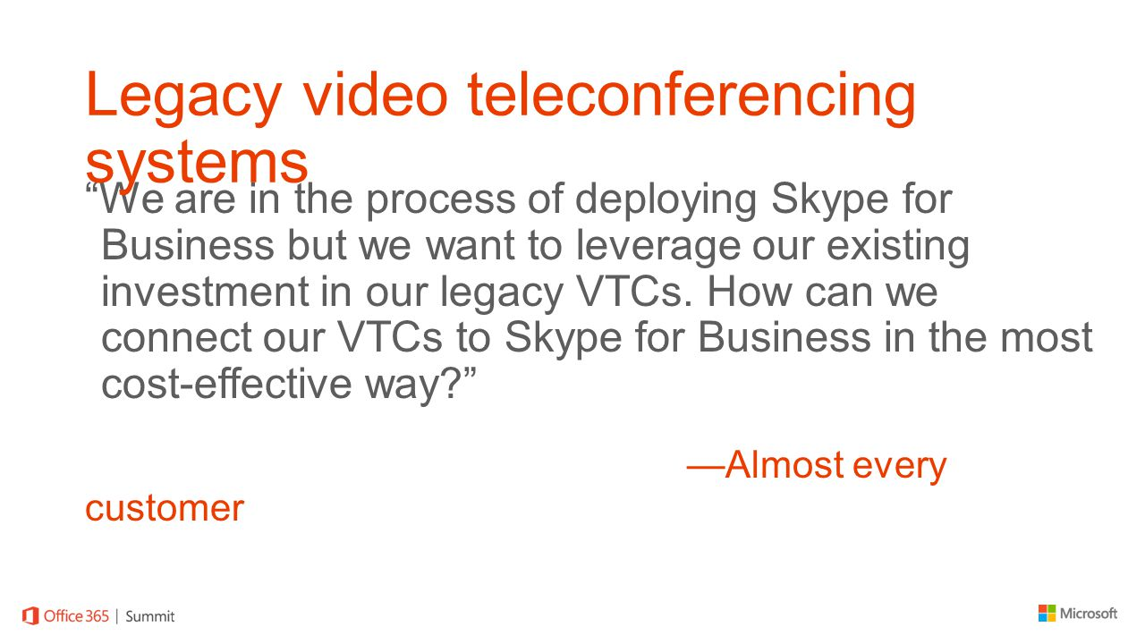 Legacy video teleconferencing systems