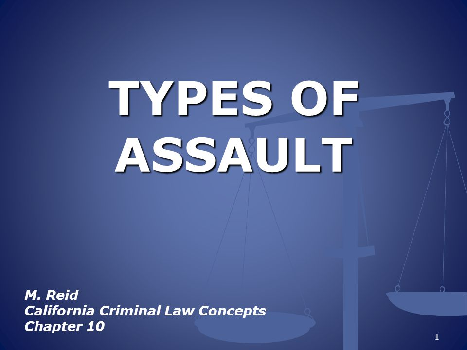 ASSAULT AND BATTERY Crimes against Persons The difference between Assault and Battery is the actual _______ 2 contact