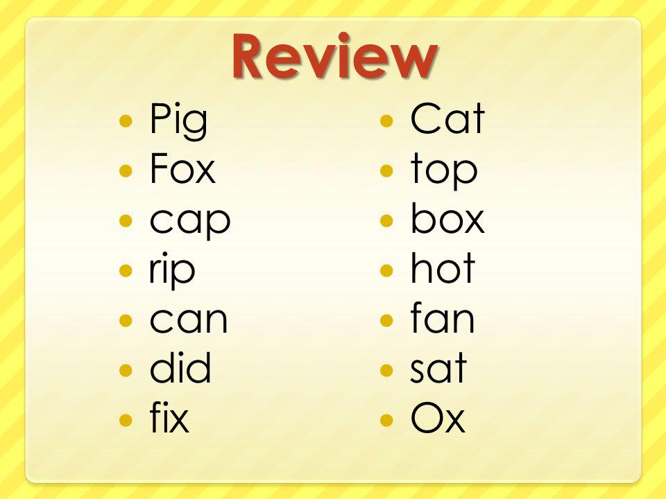 Review Pig Fox cap rip can did fix Cat top box hot fan sat Ox