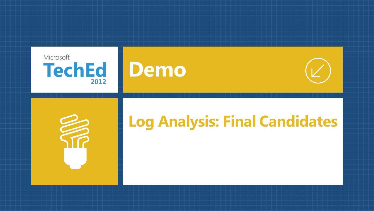 Demo Log Analysis: Final Candidates