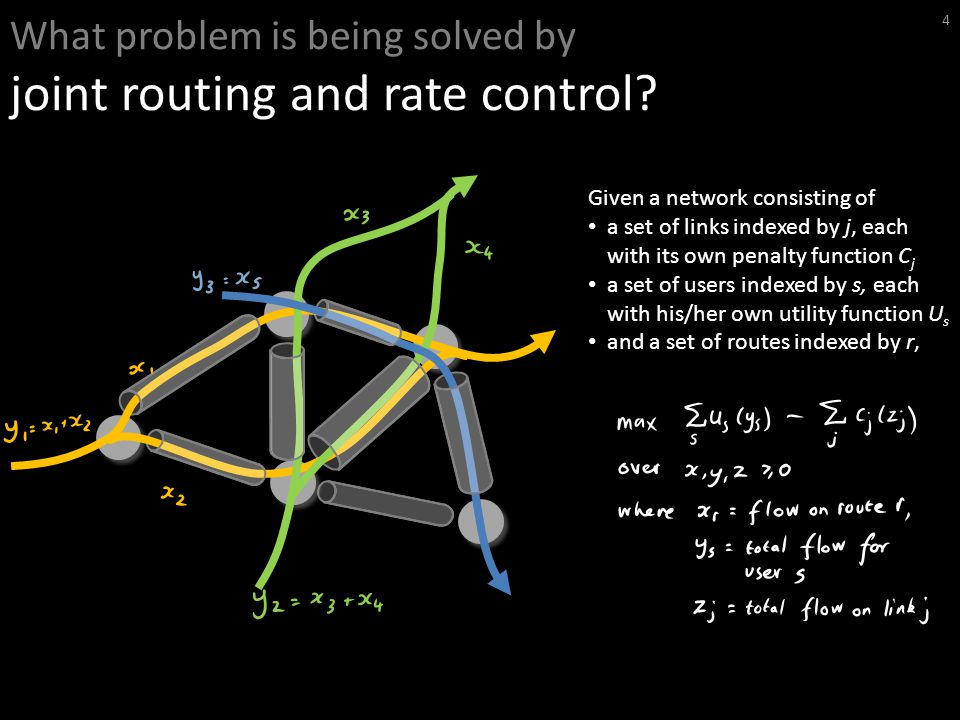 What problem is being solved by joint routing and rate control.