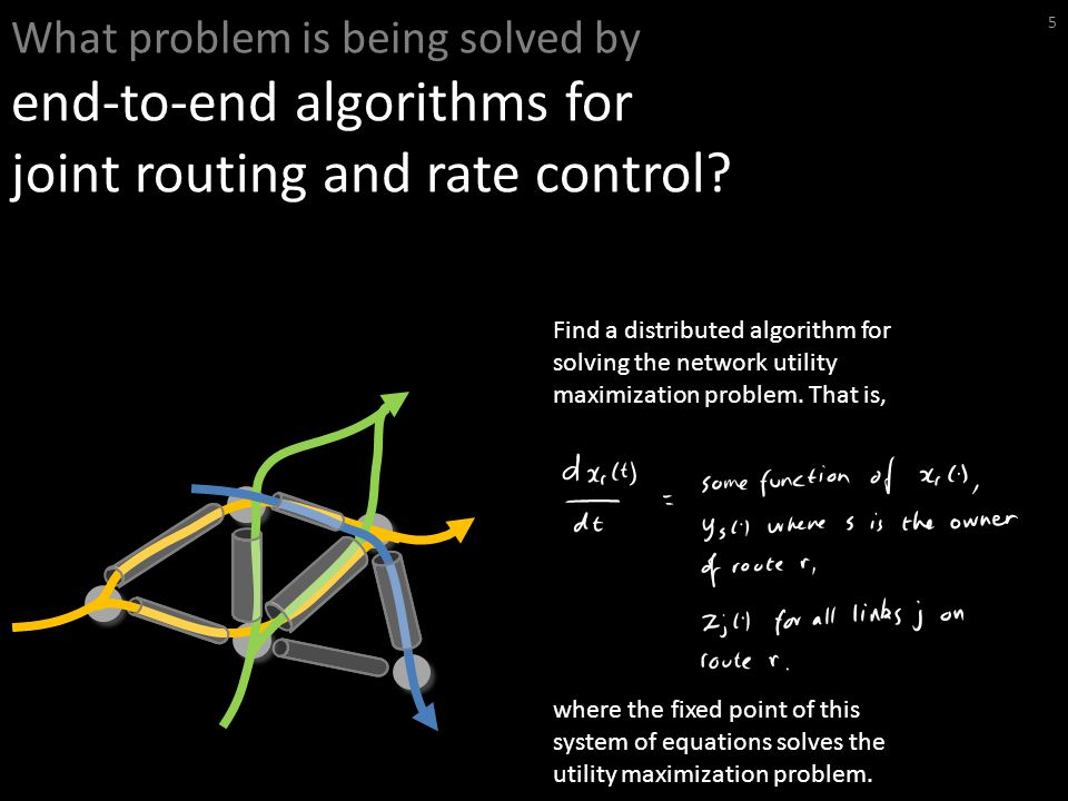 What problem is being solved by end-to-end algorithms for joint routing and rate control.