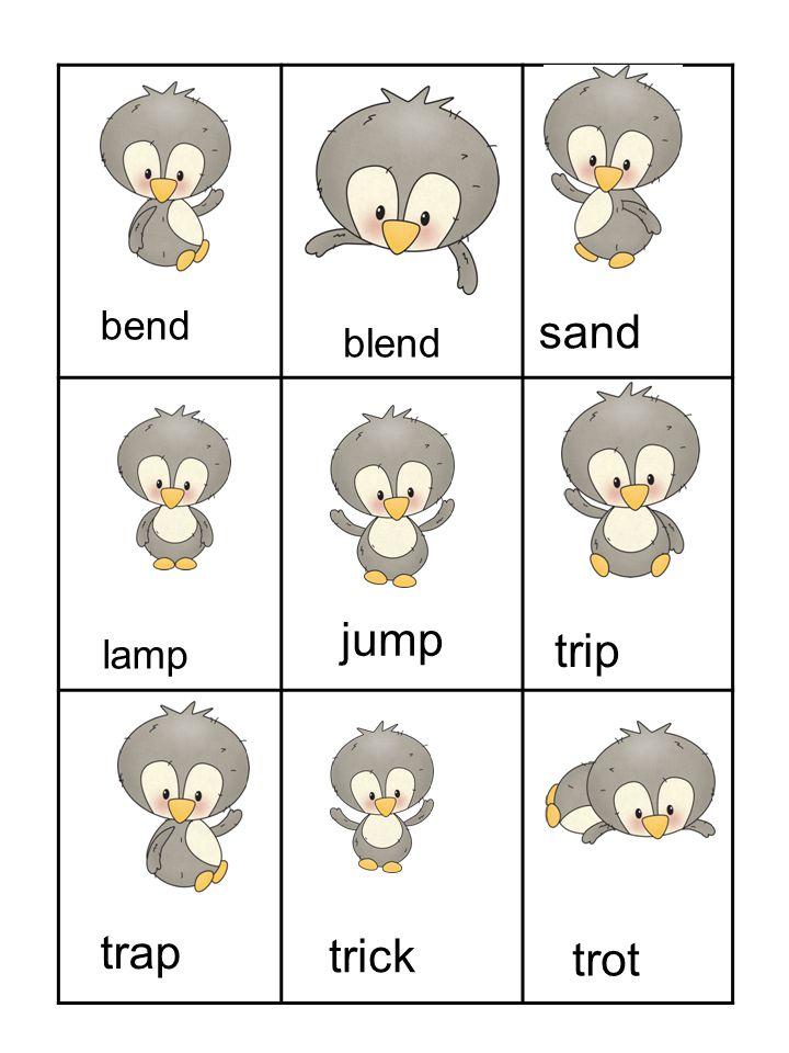 bend blend sand lamp jump trip trap trick trot