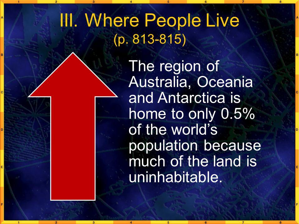 III.Where People Live (p.