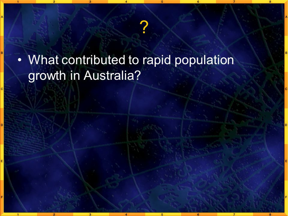 ? What contributed to rapid population growth in Australia?