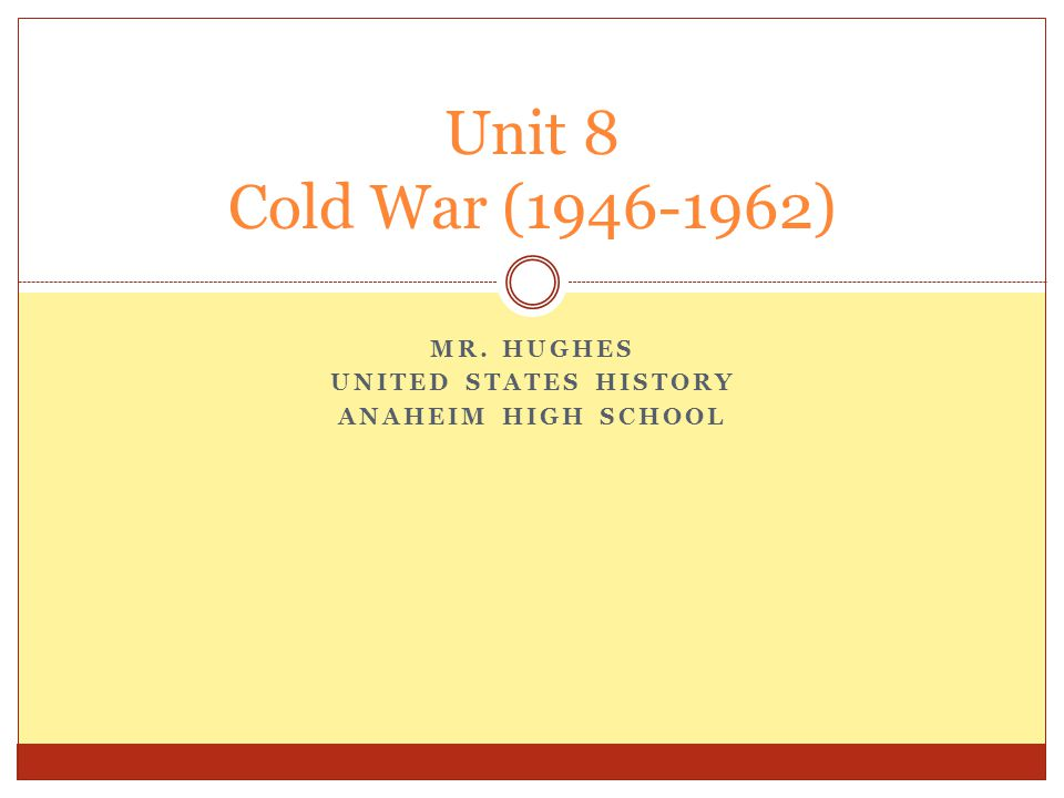 IN THIS SECTION, WE WILL LOOK AT POST WAR EUROPE AND THE ORIGINS OF THE COLD WAR.