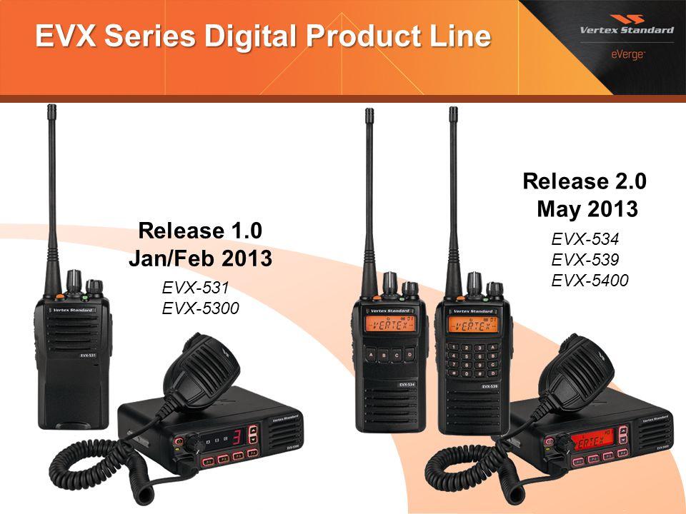 EVX Series Digital Product Line Release 1.0 Jan/Feb 2013 Release 2.0 May 2013 EVX-531 EVX-5300 EVX-534 EVX-539 EVX-5400