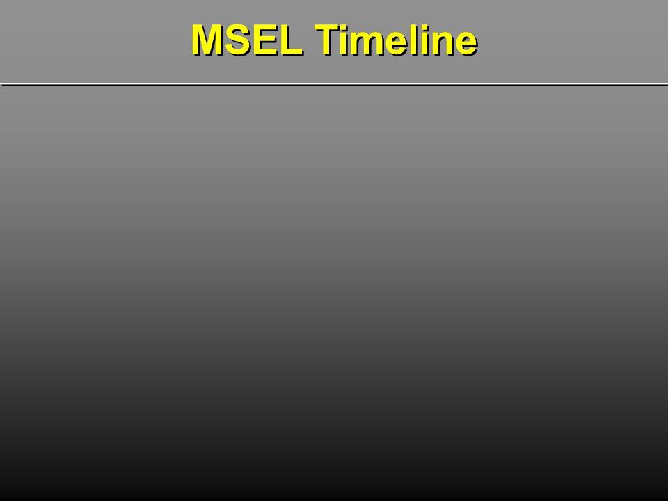 MSEL Timeline