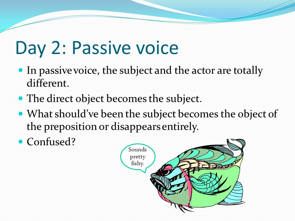Some examples Find the actor in these sentences: The minnow was eaten by an eel.