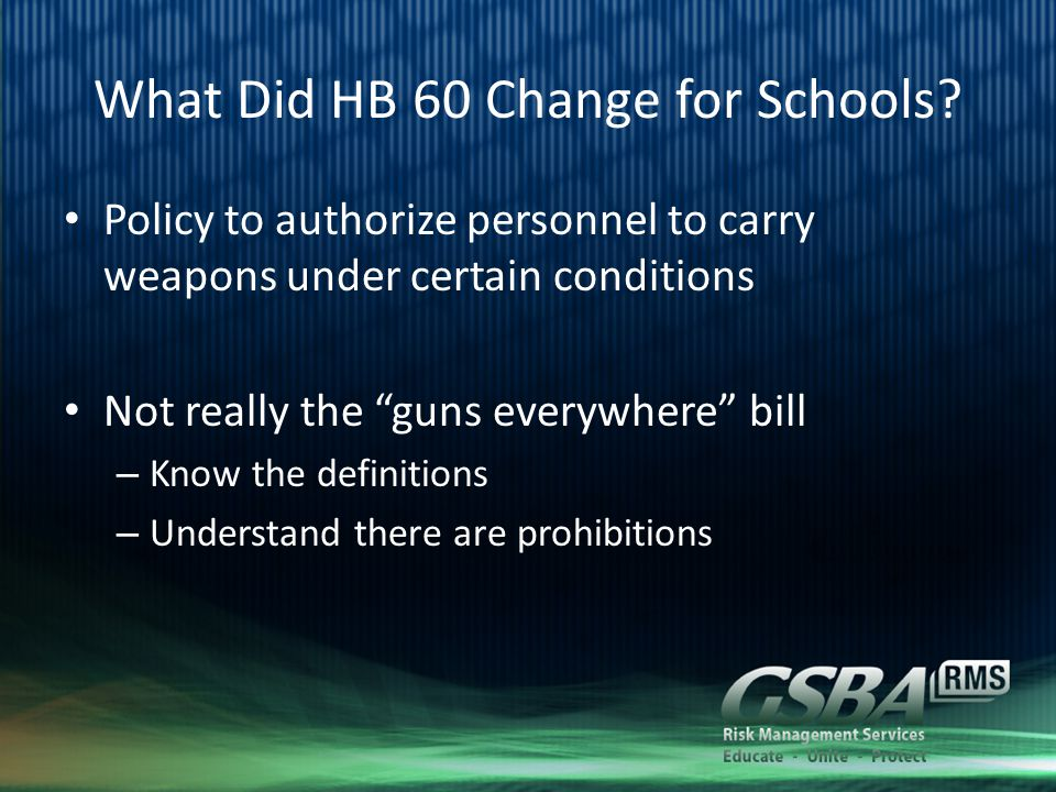 What Did HB 60 Change for Schools.