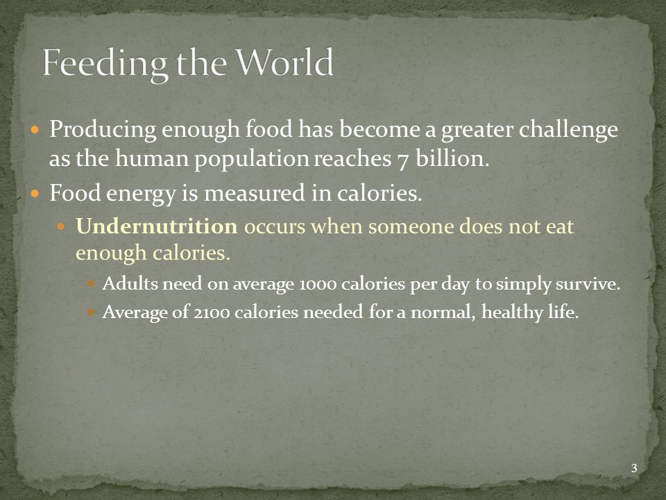 Producing enough food has become a greater challenge as the human population reaches 7 billion.