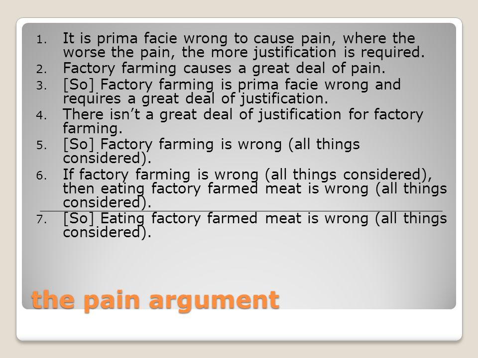 the pain argument 1.